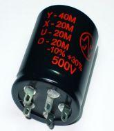 Capacitor - JJ Electronic - Electrolytic - 40/20/20/20uF - 500V
